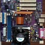 Плата материнская Socket 478 для PC4